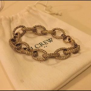 J Crew Pave Link Bracelet